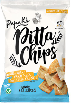 Papa K's Golden Baked Pitta Chips