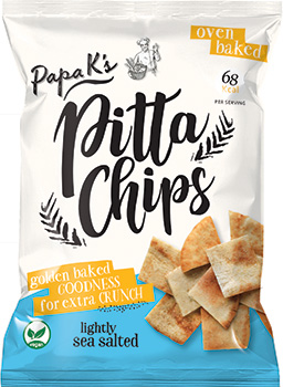 Papa K's Golden Baked Pitta Chips front